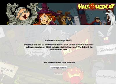 Halloween Umfrage